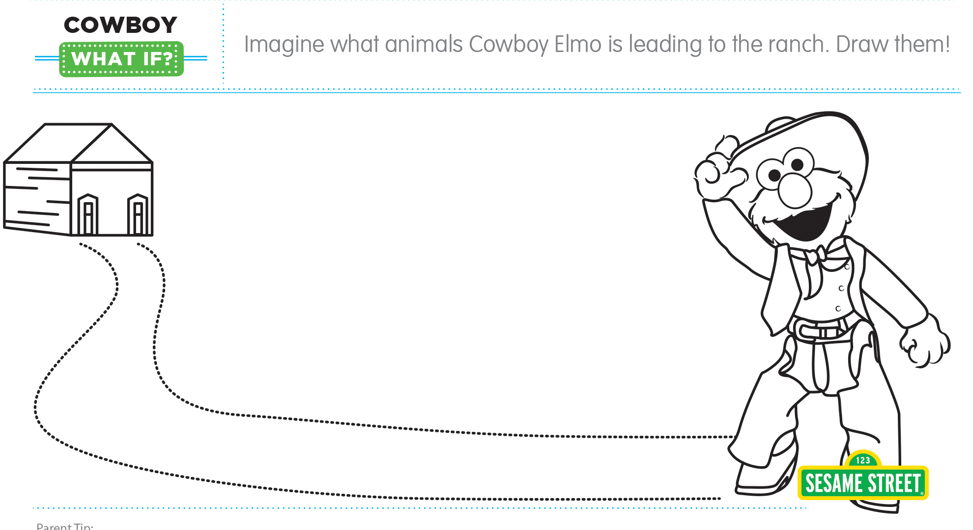 "Elmo the Musical: Cowboy ""What If"" Printable | Sesame Street"