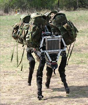 A 'dogbot' in the general shape of a dog is shown