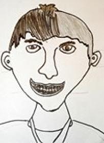 Image of student self-portrait