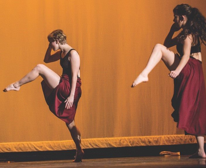 Image of a dancers on stage