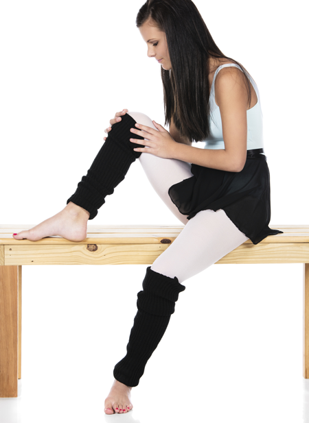 Image of a dancer preparing