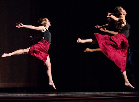 Image of four ballet students