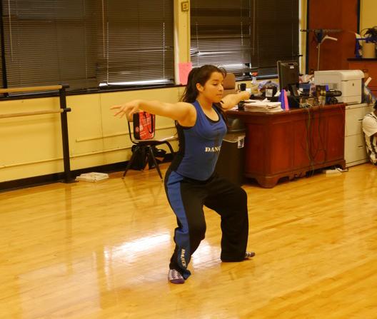 Image of dancer warming up