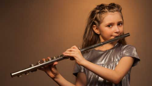 Image of girl playing the flute