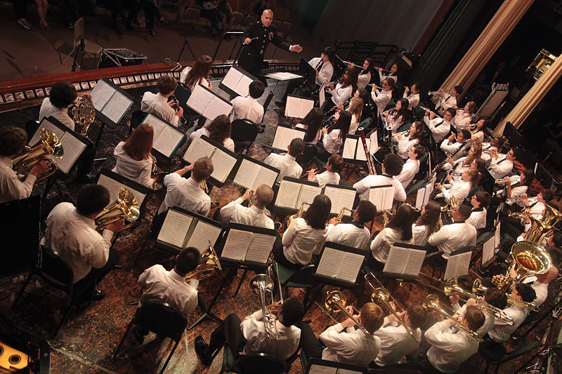 Image of a concert band on stage