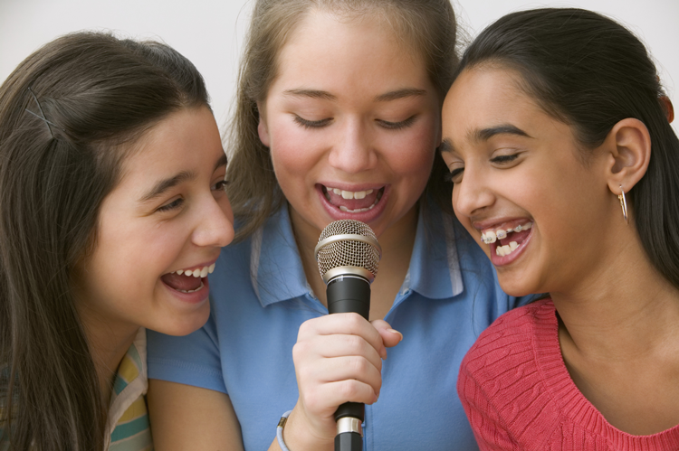 Image of a group of girls singing