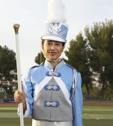 Image of a drum major
