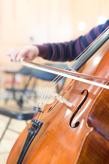 Image of person playing cello