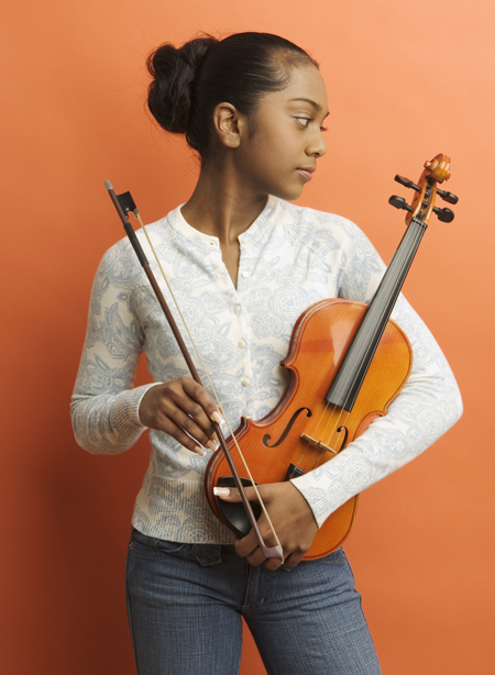 Image of girl with violin