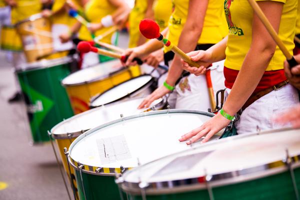 Image of samba drummers