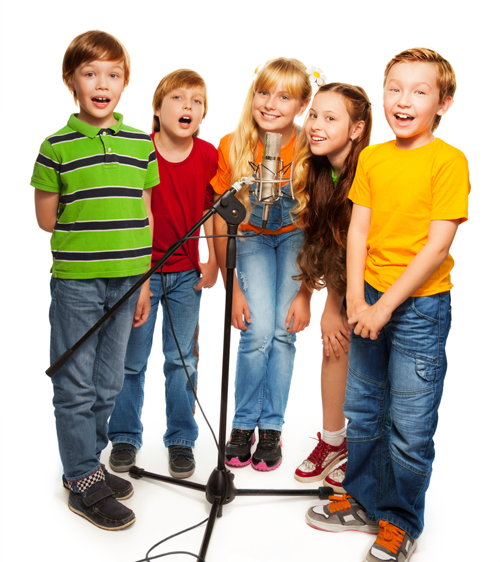 Image of group of young singers