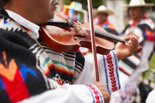 Image of mariachi musician playing violin