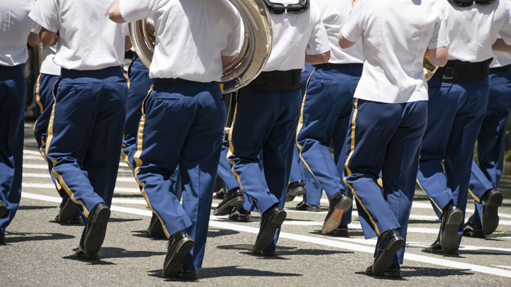Image of a marching band