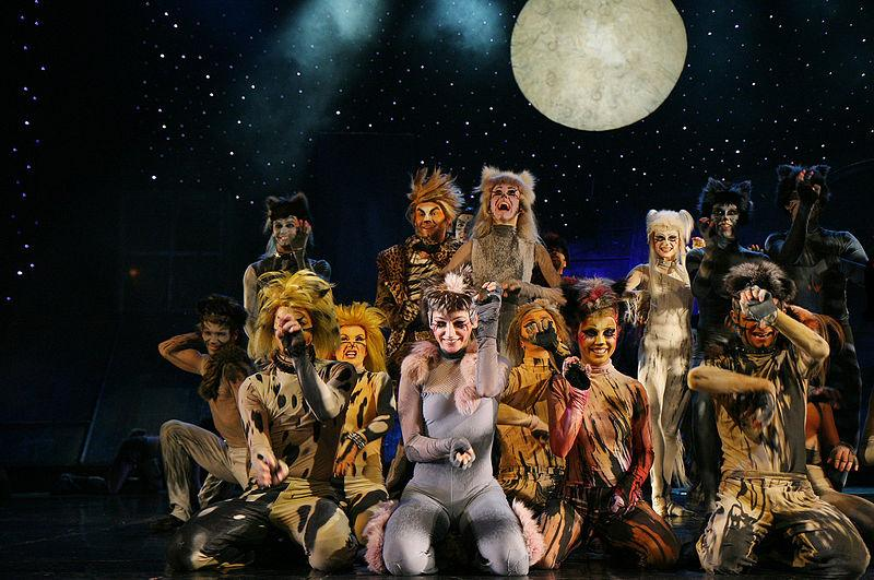 Cast of CATS on stage during production