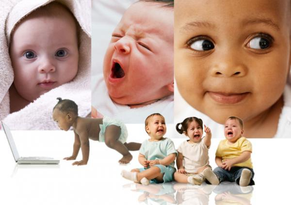 several images of babies