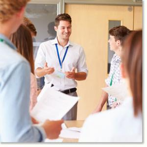 Teacher planning lessons