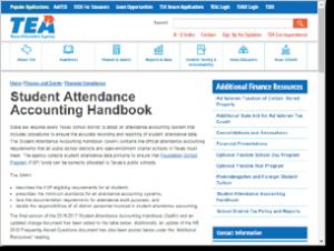 Screenshot of the TEA SAAH website