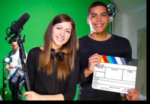two-people-video-crew-greenscreen