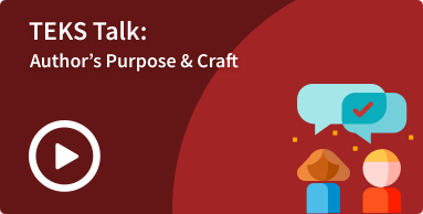 TEKS Talk - SLA Authors Purpose image