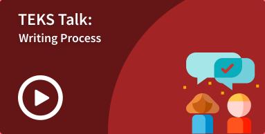 writing process TEKS talk image